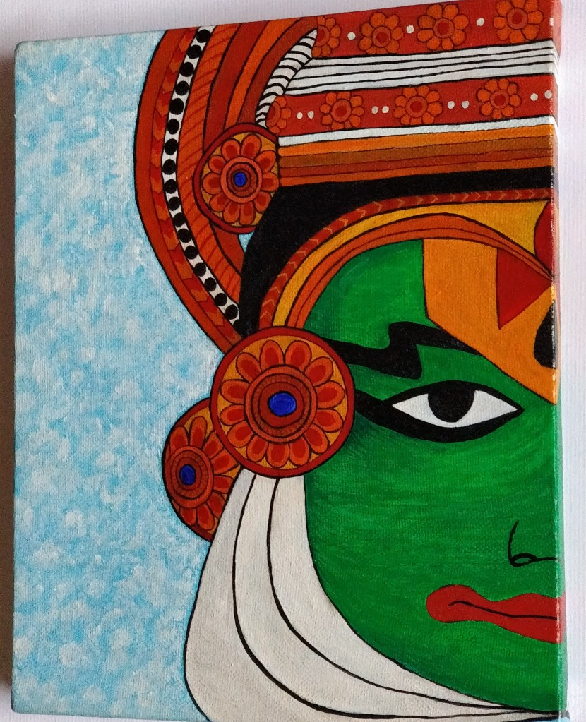 Kathakali Dancer's portrait