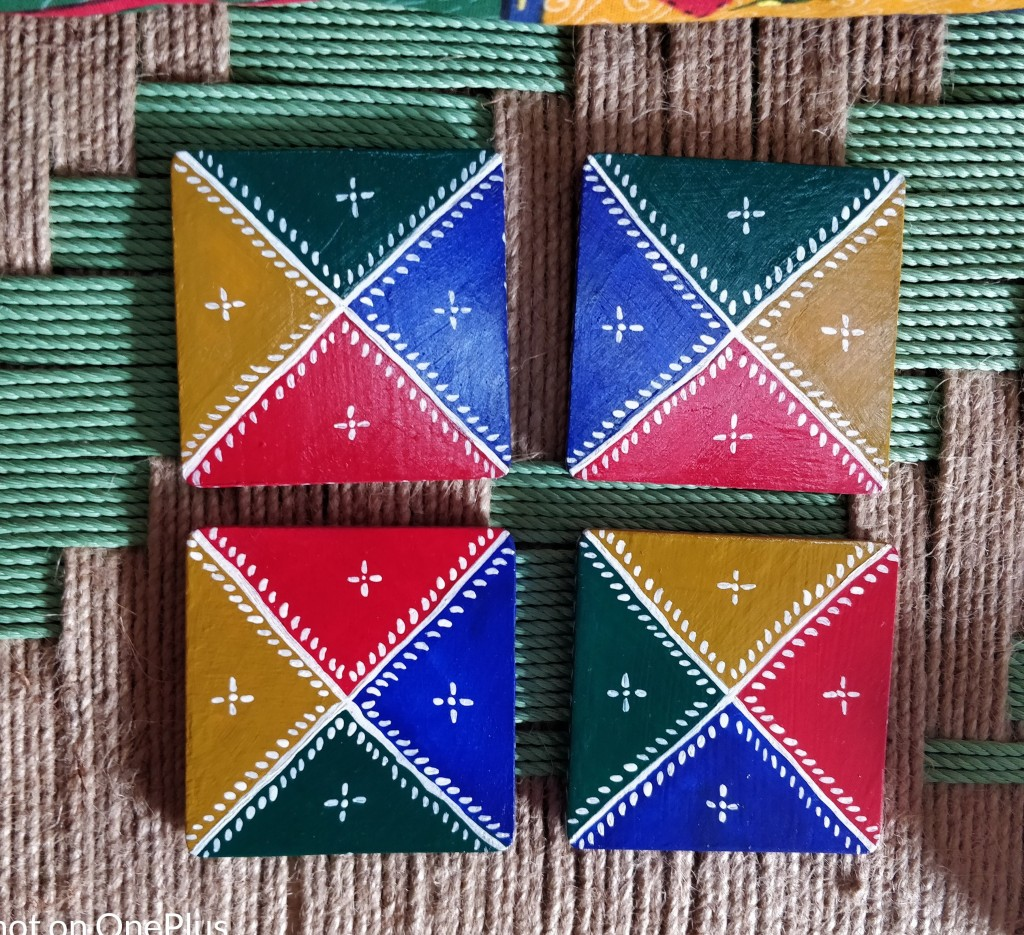 Colorful Rajasthani Coasters