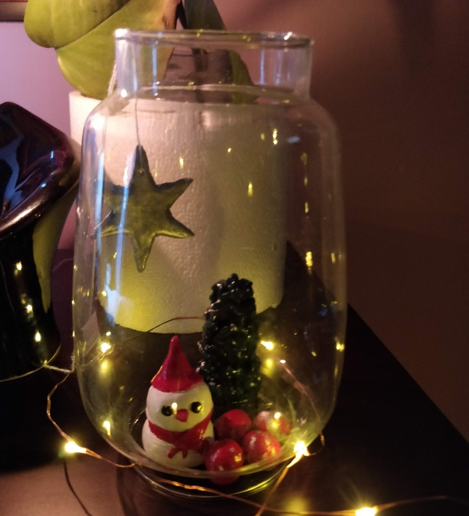 Handcrafted tiny mini Christmas decor for desk