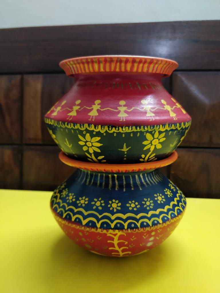 Colorful multipurpose pot